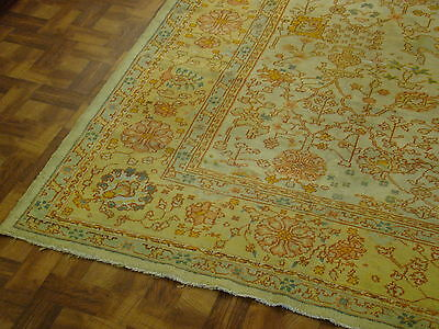 Gorgeous Genuine Antique 19th Century Turkish Oushak Area Rug 10' x 13' Must See