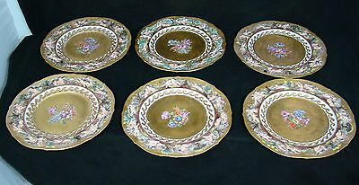 Set of Six mid 19th century Italian CapodiMonte Chargers in Very Good Condition