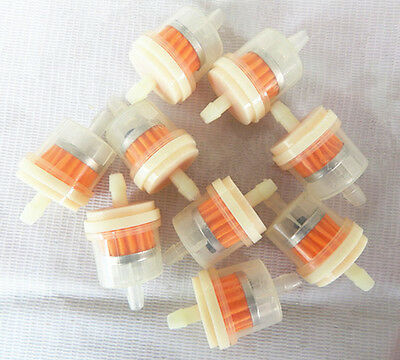 10pcs Hose Motorcycle Scooter Gasoline Clear Inline Gas Fuel Filter 1/4'' 6-7mm