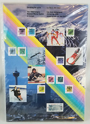 Sealed 1988 Calgary Olympic Winter Games In Stamps