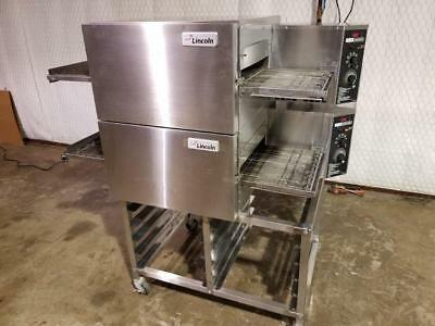 Lincoln Impinger 1116 Double Stack Nat.gas Conveyor Pizza Ovens.....video Demo
