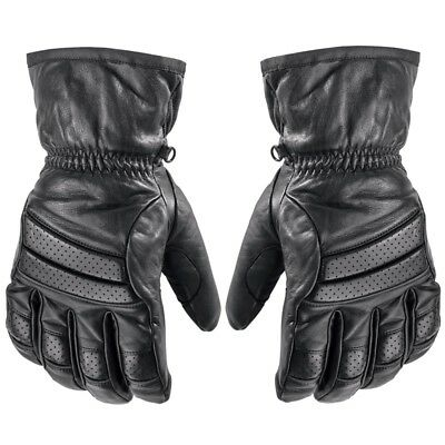 Arctic Cat Adult Touring Low-Cuff Insulated Leather Gloves - Black - 5262-27_