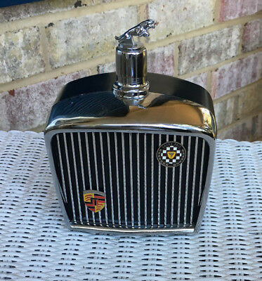 Vintage JAGUAR Music Box 1968 Royal London LTD DECANTER/FLASK Plays Well!  EUC!