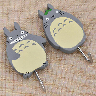 Cartoon Anime Totoro Wall Hanger Hook For Key Hat Towel Home Supplies Wooden