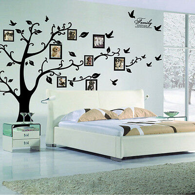 Removable PVC Wall Sticker Tree Large Photo Picture Frame Family  Decor Decal