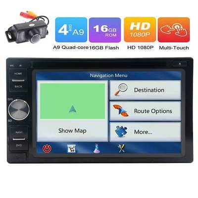 6.2in Android 6.0 Stereo Multimedia Player Bluetooth GPS Car Radio DVD CD + CAM