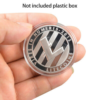 Litecoin Coins Commemorative Coins Silver Plated Collection Physical Xmas Gifts