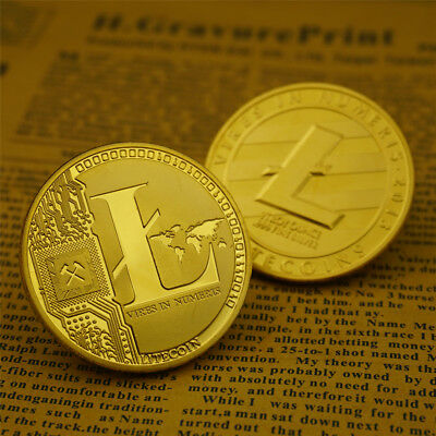 Litecoin Coin Commemorative Coins Plated Collection Physical Xmas Christmas Gift