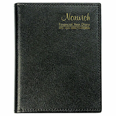 2019 2020 NORWICH Financial Year Diary A6 Week To View Open Pocket 63SFY BLACK
