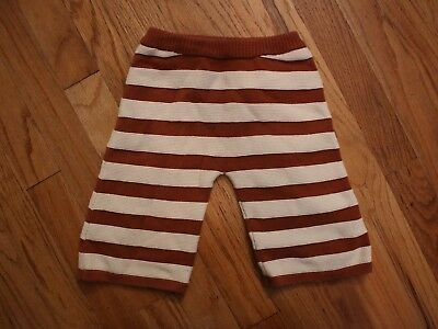 Misha & Puff knit striped pants 4-5 yrs brown and white