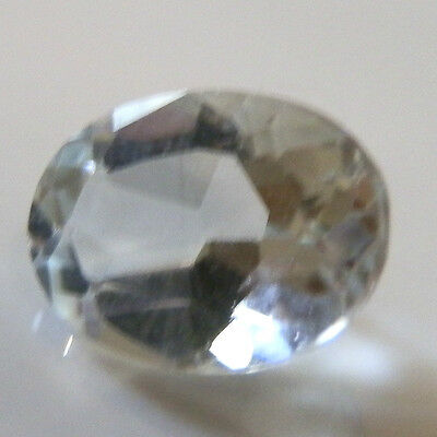 Natural earth-mined oval pale blue aquamarine gemstones... 0.6 carat