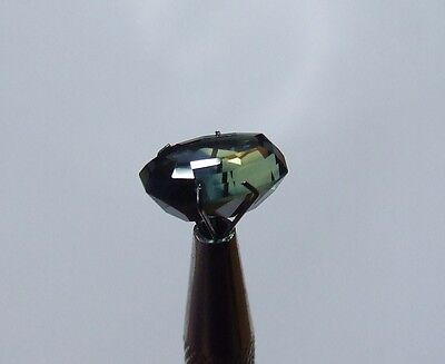 Natural untreated blue green yellow sapphire free-form gemstone..7 carat gem
