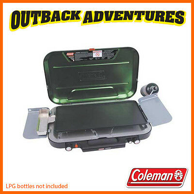Coleman Eventemp Stove With Griddle Plate & Grease Cup - Camp Boat Picnic Bbq