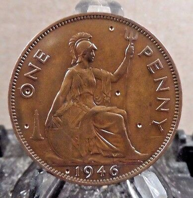 Circulated 1946 1 Penny Uk Coin (20217)1