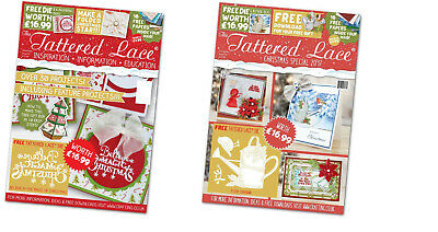 Tattered Lace CHRISTMAS 2016 & 2017 SPECIAL Magazines MULTIBUY with FREE Dies!