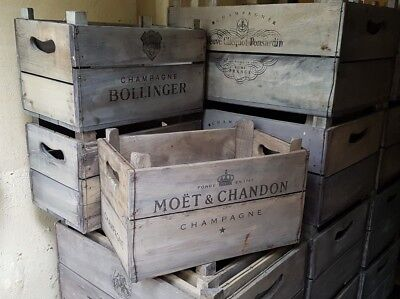 Large Moët Champagne Crate. Vintage style Fruit crate. Storage box