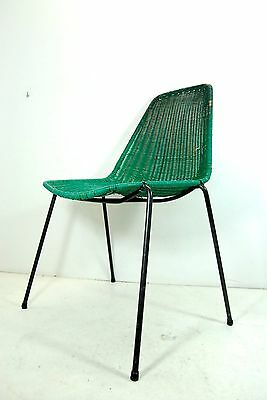 Armchair from BAR 60's chair plastic woven vintage modern antiques RIMA