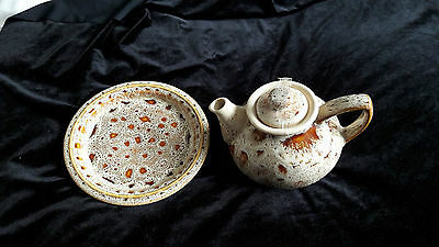 Vintage Fosters Studio Pottery - Tea pot and plate