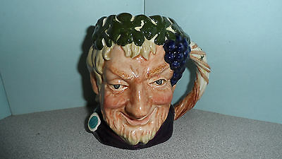 "VINTAGE 1950s-60s WELL MARKED ROYAL DOULTON "" BACCHUS "" - 4"" TALL TOBY MUG"