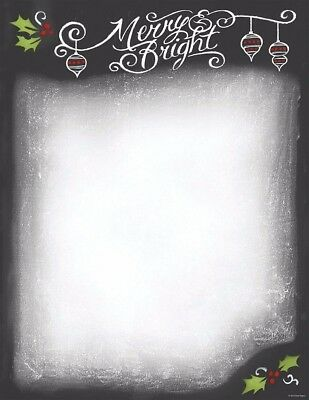 Great Papers Christmas Chalkboard Holiday Letterhead Printer Paper 80 sheets
