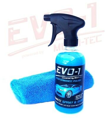 [EUR 25,80/L] 0,5 L EVO-1 ULTIMATE SPRAY & SHINE Sprühglanz Versiegelung Finish