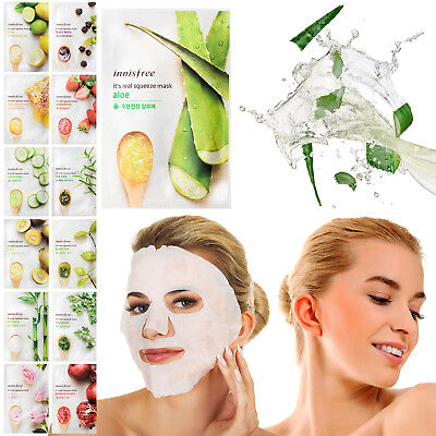 Innisfree Natural Face Masks Moisturising Cosmetic Facial Skin Peel Off Sheet