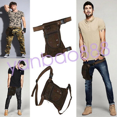 Canvas Drop Leg Bag Waist  Pack Military Tactical  Bags jambe sac bein taille