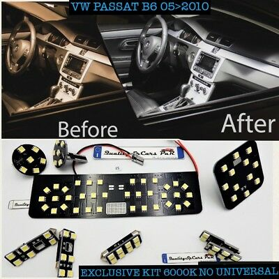 Kit LED interni Vw Passat B6 2005>10 GHIACCIO 6000K canbus NO ERROR volkswagen R