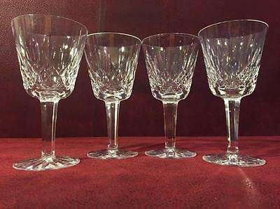 Set of Four Stunning Waterford Lismore Goblets Wine Water Juice Glasses Signed