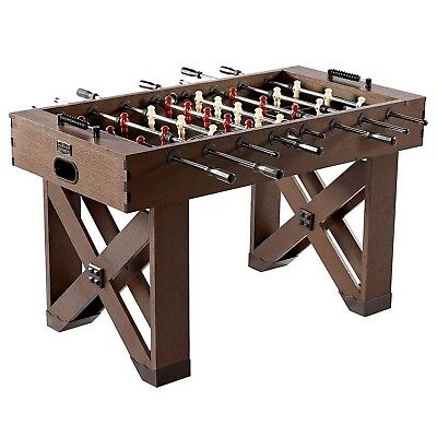 "56"" Wooden Foosball Table Soccer Arcade Game Room Table"