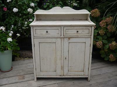 Old Antique Victorian Pine/ Painted (Old Paint) Dresser Base/sideboard/cupboard