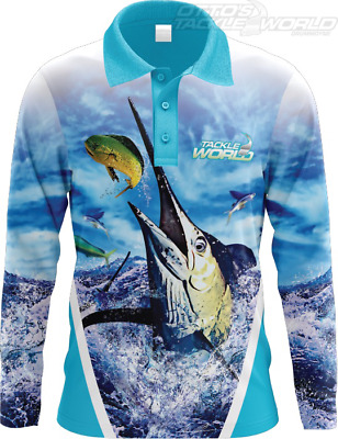 Tackle World Angler Series Marlin Ladies Shirt BRAND NEW @ Ottos