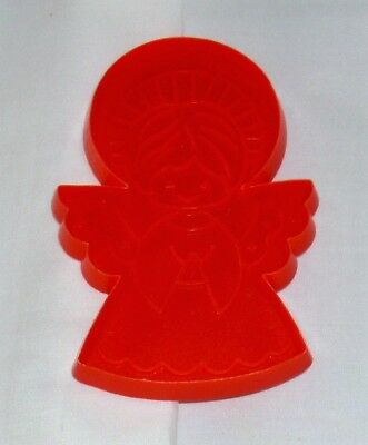 """Hallmark Christmas Imprint Cookie Cutter Red Praying Angel 4-7/16"""" x 3"""" Used"""