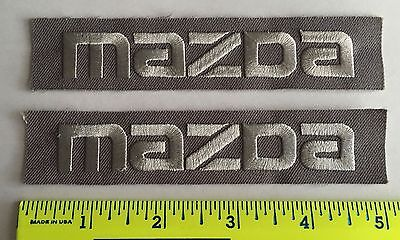 LOT of 2 Vintage Mazda Car Auto Employee Uniform Iron or Sew On Patch*5X1