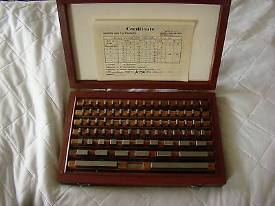 Inch System Gauge Block Set 93-10094 With Wooden Box