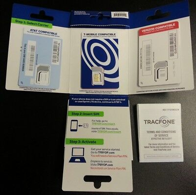 TracFone Bring Your Own Phone 3in1 SIM Card Activation Kit T-mobile ONLY