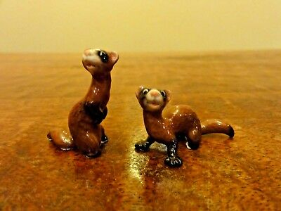 Hagen Renaker - Porcelain Ceramic Ferret Figurine LOT