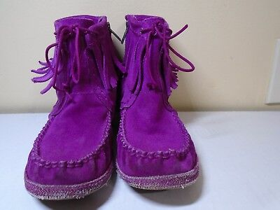 UGG Australia Moccasins Western Style Ankle Boots, Pink, Women's US Sz 3