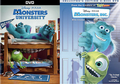 Monsters Inc and Monsters University DVD Combo Discs Includes Both Movies