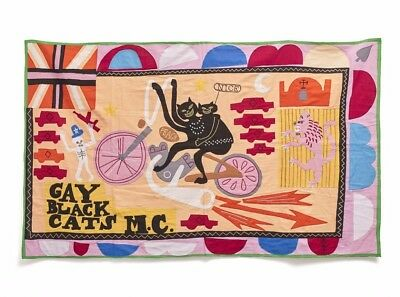 Grayson Perry Gay Black Cats MC Limited Edition Flag w/ Signed COA | Print