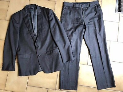 Mens SABA Grey Suit - Size 40 Jacket & Size 33 Trousers - Good Condition w/rip
