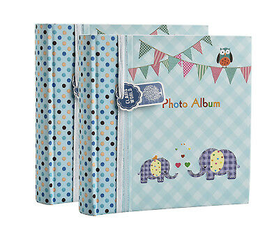 Photo album 6x4'' x 200 photos slip in memo album baby boy or girl album x 2