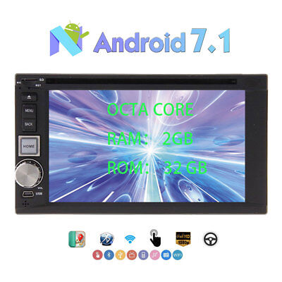 8-Core Android 7.1 Autoradio GPS Stereo Bluetooth Touch Screen WiFi  DAB+ CD DVD