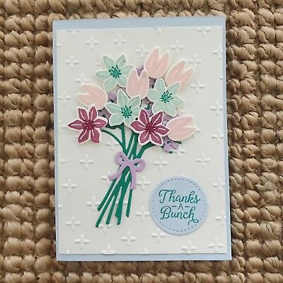 Handmade Cards - Stampin up A bouquet Of Flowers Card- Pastel Colours