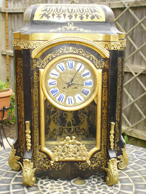 Very large French Boulle clock - working order - UK sale and pick up only