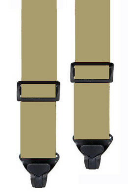 KIDS SKI PANT SUSPENDERS in TAN - 2 SIZES FOR BETTER FIT - NON METAL CLIPS