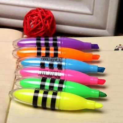 Cute Bee Highlighter Pen Mini Marker Pens Kawaii Stationery School Supplies Llq