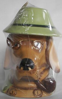 Dog with pipe character stein
