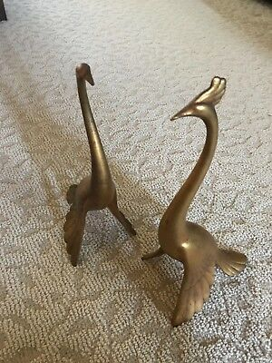 Mid Century Ceramic pair of Gold Peacock's by Anthony Freeman McFarlin Pottery