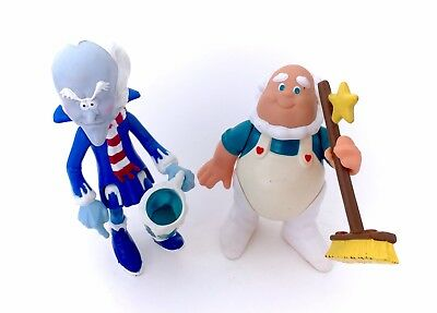 Vintage Care Bears COMPLETE Professor Coldheart and Mug & Cloudkeeper and Broom